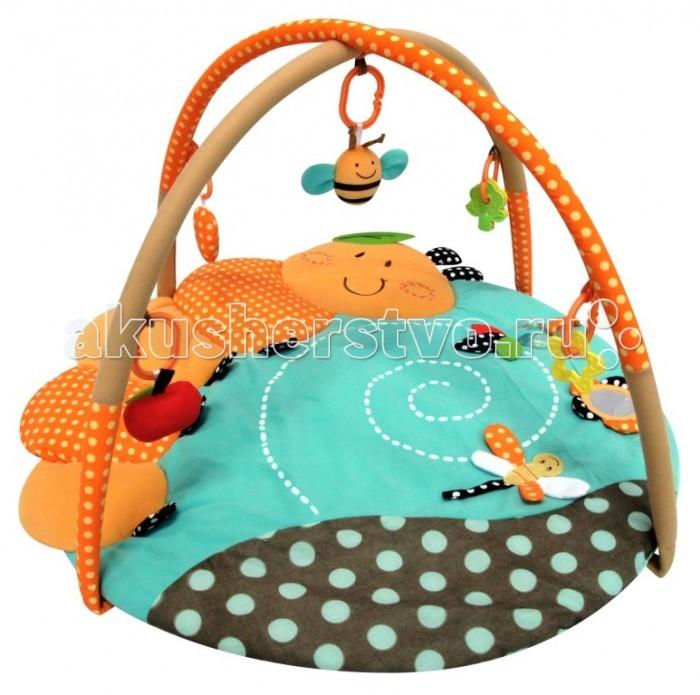 Развивающий коврик Merx игровой Гусеницаигровой ГусеницаMerx Развивающий игровой коврик Гусеница для новорожденных и младенцев. Коврик обеспечит вашему ребенку комфортное и безопасное место для игры, обучения, развития и отдыха.   Функции:  Игрушки и 3D лепестки для развития моторики  Музыкальная кнопка, пищалки и шуршалки для развития слуха Использованы разнообразные тактильные материалы  Разноцветный красочный дизайн и зеркальце, способствующие развитию зрения Все игрушки, подвешенные на дугах, можно снять с колец и использовать отдельно от коврика  Компановка элементов коврика вдохновляет ребенка к движению и игре. Комплектность: Игровой коврик с дугами и аксессуарами.  На коврике:  Мызыкальная кнопка работает от батареек, батарейки замене не подлежат  Пищалка  Шуршащие 3D лепестки для развития моторики и слуха  Пластиковое зеркальце Пластиковое кольцо-погремушка.  На дугах:  Пластиковое кольцо с мягкой игрушкой с пищалкой Пластиковое кольцо с мягкой игрушкой с погремушкой Пластиковое кольцо с ключами для развития моторики  Пластиковое кольцо с прорезывателем.  Материал: Коврик, внешний слой - Полиэстер  Коврик, наполнитель - Полиэстер Дуга, каркас - Фиберглас  Дуга внешний слой - Полиэстер Дуга, наполнитель - Полиэстер.<br>
