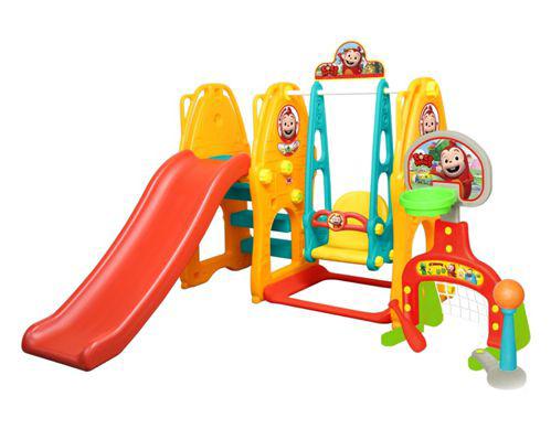 Gona Toys Игровой комплекс ОбезьянкаИгровой комплекс ОбезьянкаИгровой комплекс Gona Toys Обезьянка GOC-006: игровой центр можно как для использования в доме, так и для игры на свежем воздухе. Комплекс предназначен не только для веселого времяпрепровождения детей, но и для их разностороннего развития. Малыши, получая удовольствие от игры, развивают физические навыки, координацию, пространственное мышление.   Ярко окрашенные детали способствуют развитию цветового восприятия ребенка. Конструкция игрового центра устойчивая и крепкая, что является гарантом безопасной игры для малыша.   Ухаживать за этим комплексом очень просто: пластиковые детали легко разбираются и моются. Хранение также не доставит хлопот: в разобранном виде центр занимает минимум пространства.  Особенности: подходит для детей от 1,5 до 4 лет устойчивая безопасная конструкция состоит из горки и качелей  которые оснащены музыкальной панелью высота горки регулируется горка оснащена нескользящими рифлеными ступеньками оригинальный дизайн  Размеры: ш*д*в - 180*170*120 см Размер упаковки: 390*1405*120 Вес упаковки: 21 кг Объем упаковки: 0,350 см3<br>