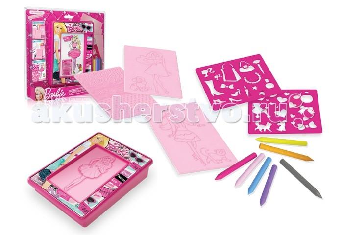 Развитие и школа , Принадлежности для рисования Barbie Набор для рисования трафаретами и мелками арт: 287143 -  Принадлежности для рисования