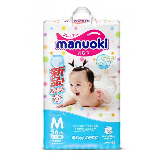 Подгузники Manuoki Подгузники-трусики M (6-11 кг) 56 шт.