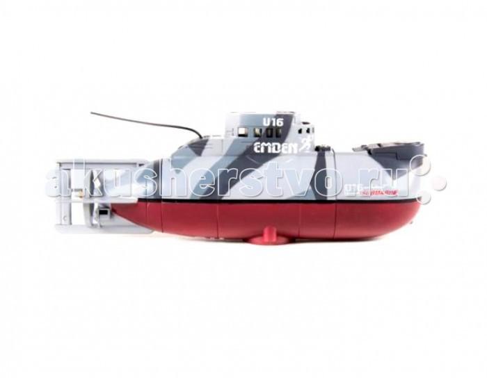 Pilotage Радиоуправляемая подводная лодка Edmen U16 RTR электроРадиоуправляемая подводная лодка Edmen U16 RTR электроPilotage Радиоуправляемая подводная лодка Edmen U16 RTR электро доставит массу впечатлений и удовольствия людям любого возраста. Высокое качество исполнения и настоящая балластная система приведут владельцев в восторг!  Модель проста в использовании и управляется при помощи  3-канального передатчика, подлодка может погружаться на глубину до 60 сантиметров и всплывать, идти вперед или задним ходом, поворачивать в любом направлении и даже крутиться на месте на 360 градусов.  Максимальная скорость модели —  0,15 узла, а одной зарядки аккумулятора хватает на 15 минут хода, причем аккумулятор модели заряжается от пульта за 20 минут, поэтому бороздить бездну аквариума можно хоть целый день!  В комплект входят: одна подлодка Edmen U16  радиопередатчик управления и антенна к нему.<br>