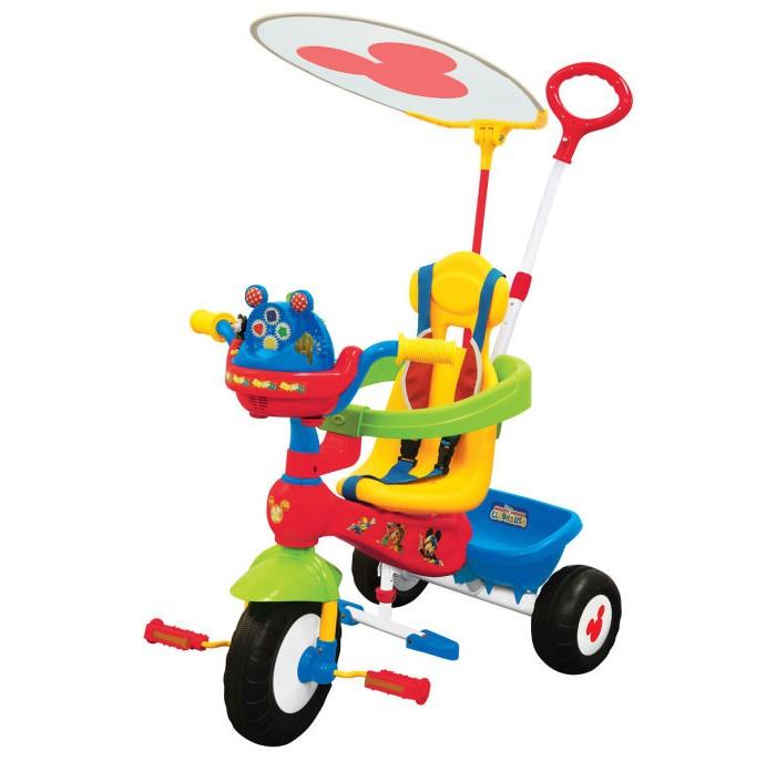 Велосипед трехколесный Kiddieland Микки Маус с ручкой