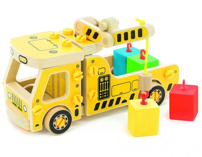 Конструкторы Мир деревянных игрушек Машина погрузчик мир деревянных игрушек конструктор каталка полиция