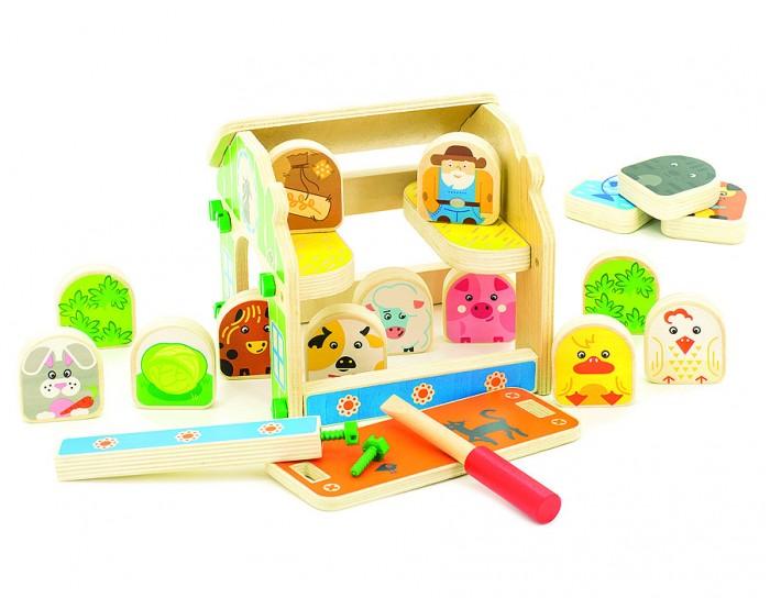 Конструкторы Мир деревянных игрушек (МДИ) Ферма мир деревянных игрушек универсальный куб