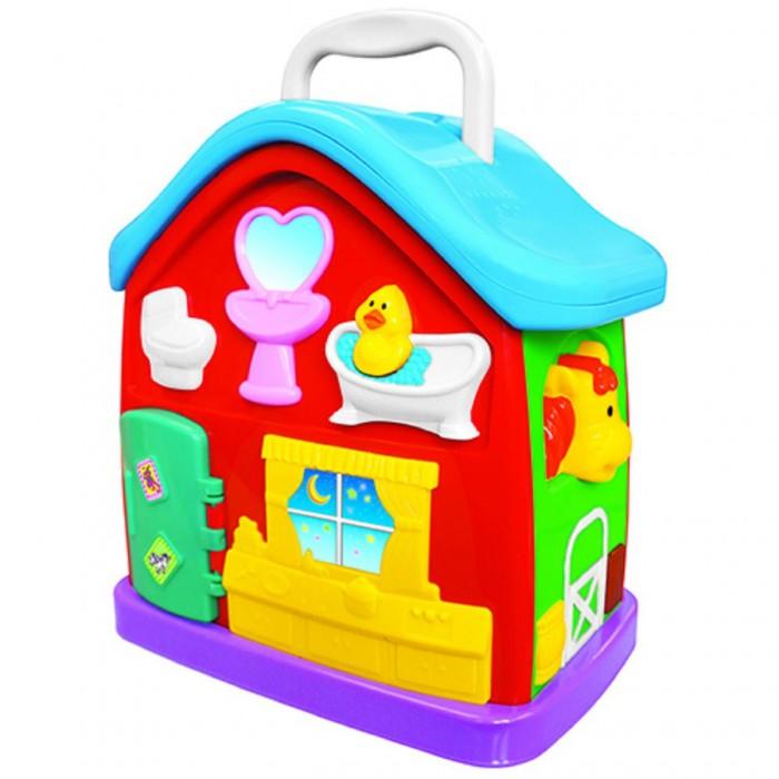 Kiddieland Музыкальный домМузыкальный домРазвивающий центр Музыкальный дом  Развивающая русскоговорящая музыкальная игрушка знакомит малыша с основными предметами домашнего обихода, а также развивает моторику, координацию движений и логику малыша.  Ребенок может сочинять музыку на пианино, слушать веселые стихи о жизни в доме, заглянуть в холодильник или просто полюбоваться на себя в зеркало.  Игрушку можно носить с собой за удобную ручку. Познавайте мир вместе с Музыкальным домиком!  Игрушка воспроизводит 5 песенок и 10 стишков на русском языке.  Упаковка презентационно-открытая. Питание: 2 батареи АА (входят в комплект).<br>