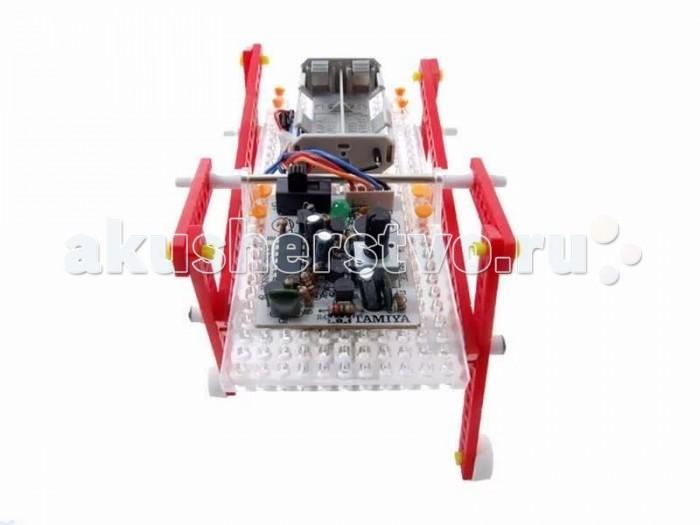 Конструктор Tamiya Walking RobotWalking RobotКонструктор Tamiya Walking Robot для сборки действующей модели Шагающий робот.  Каждый мальчишка, увидев хитроумный механизм, пытается его разобрать, чтобы узнать, как там внутри все устроено. Серия интеллектуальных конструкторов наглядно демонстрирует взаимосвязь рычагов и механизмов в действии. Из комплекта простых деталей можно собрать сложную, функциональную модель, которая будет двигаться, и перемещаться, поражая окружающих своим необычным видом, замысловатой механикой и функциональной простотой.  Собрать, понять и запустить - философия этих познавательных интеллектуальных конструкторов.  В комплект входят: Набор деталей для сборки модели, электромотор, инструкция.  Рекомендуется докупить: 2 элемента питания размера АА.<br>