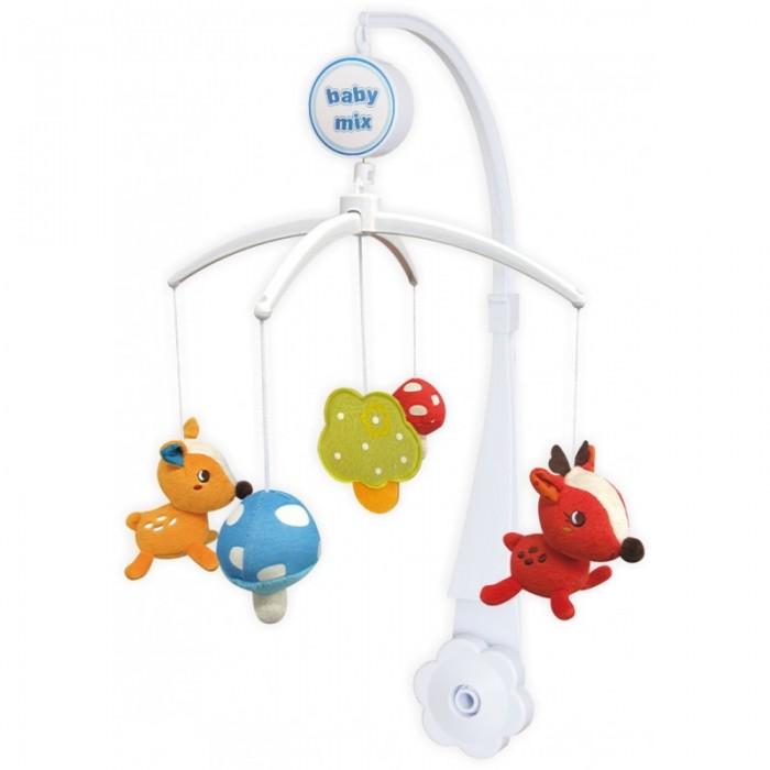 Мобиль Baby Mix Музыкальная карусель - BambiМузыкальная карусель - BambiBaby Mix Музыкальная карусель - Bambi - это яркая музыкальная карусель на кроватку, обязательно понравятся Вашему малышу с ней  малыш никогда не будет скучать. Симпатичные оленята, медленное вращение игрушек, приятная музыка - вот отличительные черты этой игрушки.  Особенности: музыкальное сопровождение карусельки ребенок учится следить за подвесными игрушками у малыша активно и в максимально естественной форме развивается зрение кроха получает представление о пространственном положении предметов музыкальное сопровождение развивает слух ребенка разно-фактурные элементы помогут развить мелкую моторику и сенсорику<br>