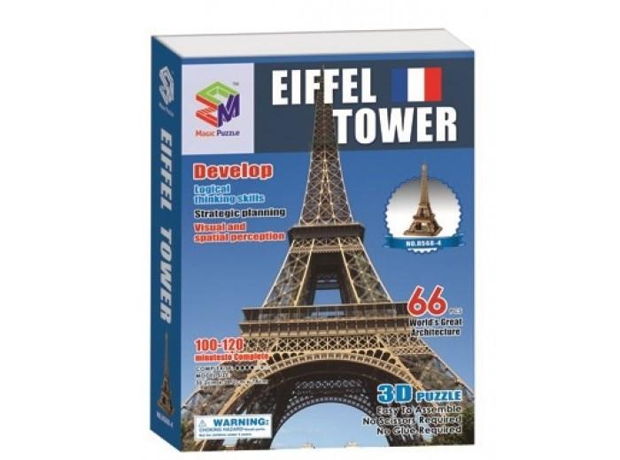 Пазлы Magic Pazle Объемный 3D пазл Эйфелева башня 78x38x35 см ограничители для книг magic home ограничитель для книг эйфелева башня