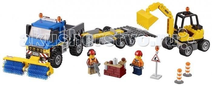 Конструктор Lego Уборочная техника 60152Уборочная техника 60152Lego Уборочная техника имеет массу активных частей конструктора, которые позволят существенно расширить игровой процесс. Вращающийся по кругу экскаватор желтого цвета с подвижным ковшом. Подъемная крыша кабины укомплектована рычагами управления. Присутствует специальная уборочная машина с таким же типом крыши, внутри нее расположен руль, двери кабины можно открыть. Уборочная машина имеет расширенный функционал благодаря вращающейся щетке и дополнительным аксессуарам.  В комплектацию набора входят: 299 деталей Двое миниатюрных рабочих Техника: экскаватор с уборочной машиной, специальный прицеп, в котором находятся инструменты и кладка из кирпичей Дополнительные наклейки для декора и стилистики.<br>
