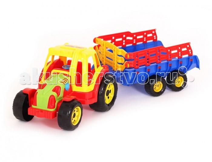 Машины POLtoys Трактор Turbo с прицепом yandex печку на трактор мтз