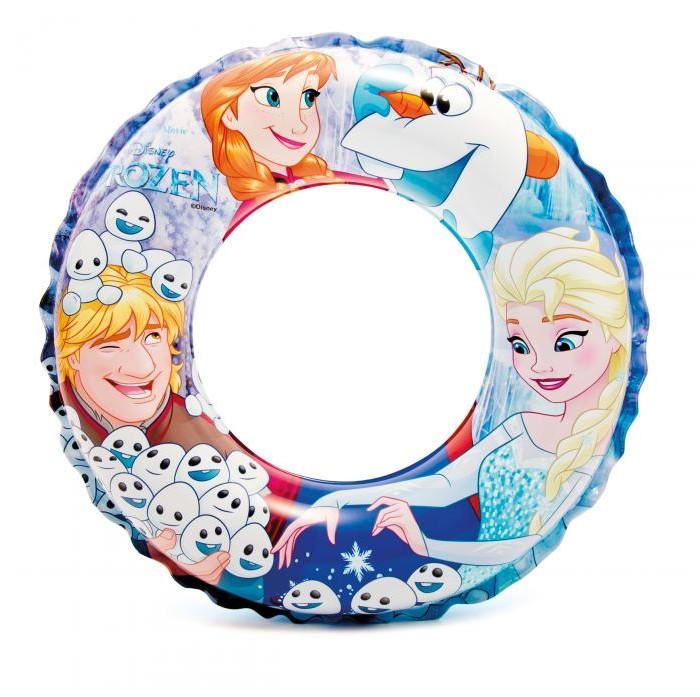 Круги и нарукавники для плавания Intex Надувной круг Disney Холодное сердце 51 см intex надувной круг для плавания русалка 147х107х79 см
