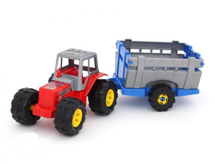 Машины POLtoys Трактор с тележкой бомик конструктор трактор с тележкой