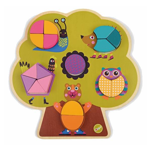 Деревянные игрушки Oops Пазл Построй дерево, Деревянные игрушки - артикул:28953