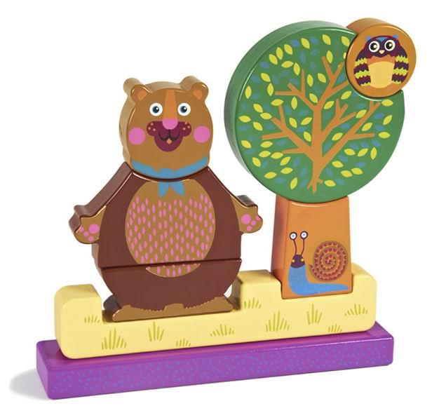 Деревянные игрушки Oops Пазл вертикальный Лес деревянный пазл oops собака 9 элементов