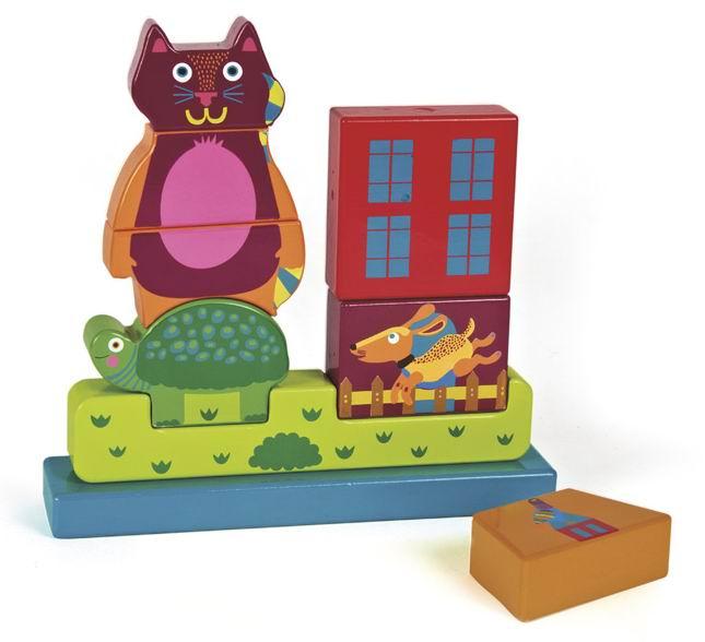 Деревянные игрушки Oops Пазл вертикальный Город деревянный пазл oops собака 9 элементов