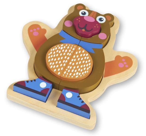 Деревянные игрушки Oops Пазл Медвежонок мягкие игрушки oops игрушка павлин