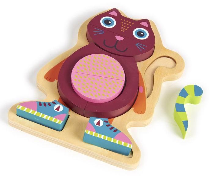 Деревянные игрушки Oops Пазл Кошка мягкие игрушки oops игрушка павлин