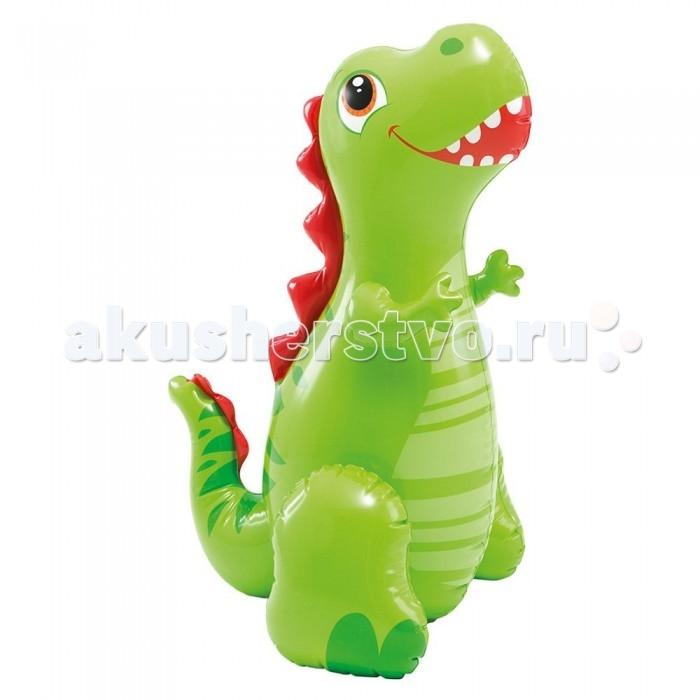Матрасы для плавания Intex Надувная игрушка Веселый динозавр с фонтаном игрушка intex бемби 114x74 см