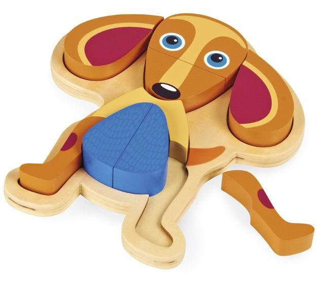 Деревянная игрушка Oops Пазл Собака