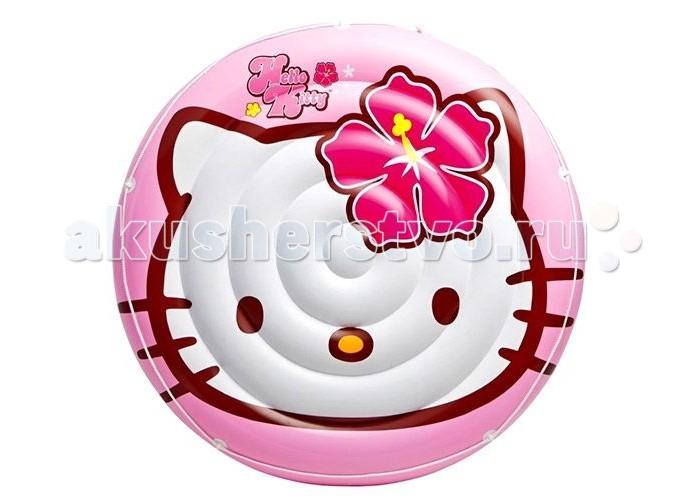 Intex Надувной островок Hello KittyНадувной островок Hello KittyIntex Надувной островок Hello Kitty понравится поклонницам забавной кошечки.   Особенности: Выполненный в розовом цвете, он оснащен тросом, закрепленным по его краю, за который очень удобно держаться во время плавания.  Рельефная поверхность предотвращает соскальзывание, что позволит с комфортом загорать, расположившись в воде.  Размеры: 137 см<br>