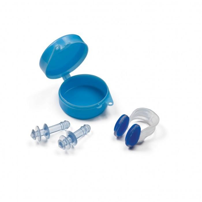 цена на Аксессуары для плавания Intex Набор для плавания беруши+зажим для носа