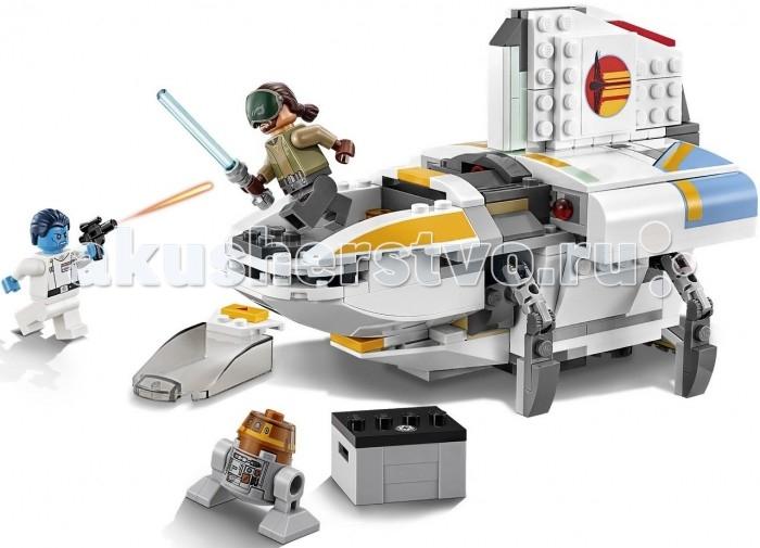 Конструктор Lego Star Wars 75170 ФантомStar Wars 75170 ФантомLego Star Wars 75170 Фантом всегда будь на шаг впереди адмирала Трауна благодаря этому крутому звездолёту Повстанцев Фантом. Когда Кэнан и его дроид Чоппер займут свои места на борту, подготовь самолет к запуску и взлетай. Открой задний люк, чтобы получить доступ к детонатору. А если попадёшь в беду, стреляй из пушек, чтобы оторваться от солдат Империи, или отсоедини кабину, чтобы незаметно сбежать.<br>