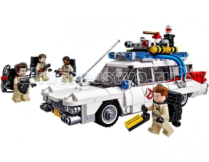 Конструктор Lego Охотники за привидениями: Экто-1Охотники за привидениями: Экто-1Lego Охотники за привидениями: Экто-1 - чтобы остановить могущественного летающего Демона, терроризирующего городских жителей, Охотники за привидениями решили использовать все свои высокотехнологичные устройства.  Сначала нужно обнаружить призрака и попытаться его догнать. Для этого понадобится мощный и маневренный автомобиль из набора Лего 75828. Его корпус, выполненный из красно-белых деталей, украшен наклейками и логотипами. Спереди виден удлинённый капот с серебристой радиаторной решёткой, прозрачными фарами и номерным знаком Ecto-1. За ним располагается просторная кабина, предназначенная для водителя и трёх пассажиров. Благодаря открывающимся дверям и съёмной крыше, можно заглянуть внутрь и рассмотреть её интерьер.  Здесь есть 2 ряда коричневых кресел, руль, коробка передач и приборная панель с множеством датчиков и дисплеев. Большинство из них анализирует информацию, поступающую с антенн и сенсоров, установленных на крыше. Также над кабиной закреплены сигнальные огни, сирена и многофункциональное антипризрачное оборудование, помогающее в слежке за злобными выходцами из потустороннего мира.  Задняя часть автомобиля  представляет собой вместительный багажник с открывающейся дверью и навесной лестницей. В нём достаточно пространства, чтобы перевезти все рабочие приборы Охотников, которые обязательно пригодятся после того, как Демон будет найден. Среди них 4 протонных блока с протонными ружьями, измеритель психокинетической энергии ПКЭ датчик, 2 ловушки и кейс с инструментами.  Размер автомобиля в собранном виде составляет 11 х 21 х 7 см.<br>