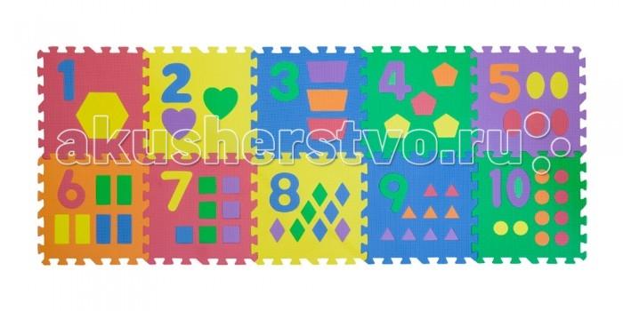 Игровые коврики FunKids 12 Цифры с Фигурками, толщина 15мм KB-024C-NT игровые коврики funkids пазл 12 без изображений рельефный