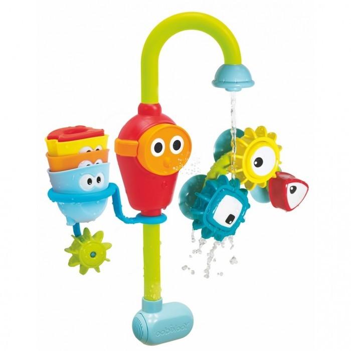 Yookidoo Игрушка водная сортер Волшебный кран большаяИгрушка водная сортер Волшебный кран большаяYookidoo Игрушка водная сортер Волшебный кран большая - это многофункциональная водная игрушка, части которой крепятся к любой из стенок ванны. Вода попадая под три различные волшебные насадки, постоянно меняет свое направление. Насадки можно комбинировать создавая настоящее чудо!   Все детали игрушки специально разработаны для маленьких ручек.  Игрушка работает от батареек «АА» x 3 (не входят в комплект).<br>