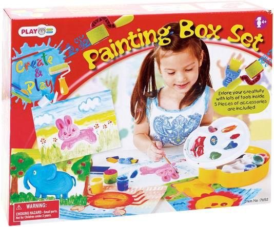 Принадлежности для рисования Playgo Набор для рисования с палитрой playgo набор с аксессуарами