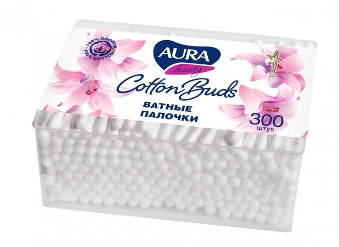 Уход за малышом Aura Ватные палочки стакан квадратный 300 шт. aura ватные палочки 100 шт