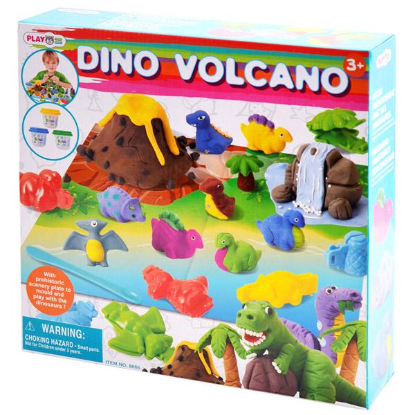 Всё для лепки Playgo Набор Динозавр всё для лепки lori набор для рисования пластилином полосатая рыбка объёмная картина