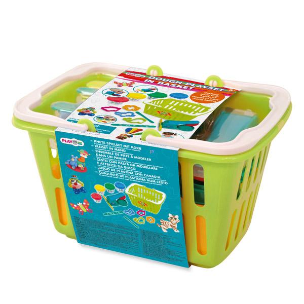 Всё для лепки Playgo Набор в корзине всё для лепки lori набор для рисования пластилином полосатая рыбка объёмная картина