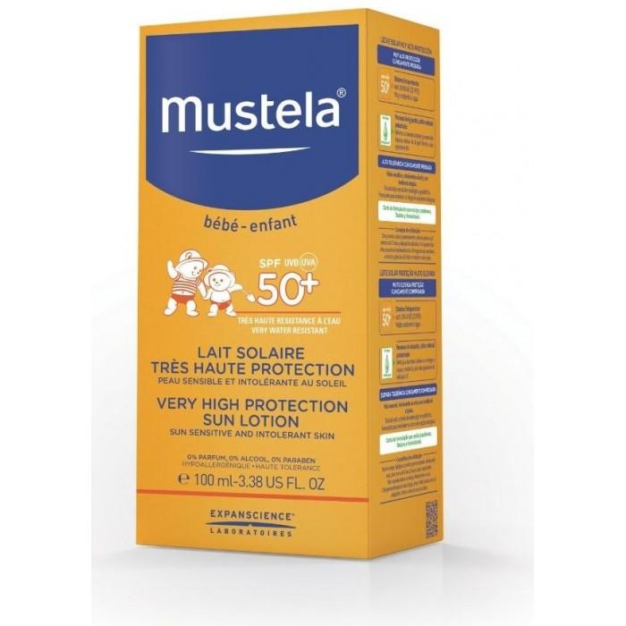 Гигиена и здоровье , Солнцезащитные средства Mustela Sun Солнцезащитное молочко SPF 50+ 100 мл арт: 291247 -  Солнцезащитные средства