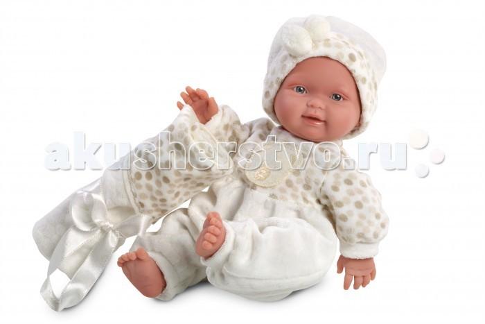 Llorens Кукла Бэбито 26 см c одеяломКукла Бэбито 26 см c одеяломLlorens Кукла Бэбито 26 см c одеялом. Кукла из ПВХ, без механизмов и звуковых эффектов. Кукла одета в светлый комбинезон и шапочку. В комплекте имеется одеяльце. Глазки у куклы не закрываются. Волосы прошиты по всей голове. Упакована в подарочную упаковку.<br>