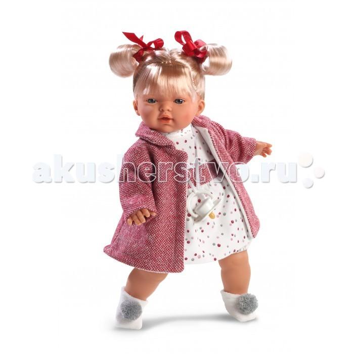 Llorens Кукла Татьяна 33 смКукла Татьяна 33 смLlorens Кукла Татьяна 33 см - играть с малышкой будет не только интересно, но и увлекательно, ведь у кукол можно разглядеть не только мимику лица, но и реалистичные складочки на ручках и ножках, которые анатомически точно передают внешние особенности настоящих малышей.  Кукла одета в яркий и стильный наряд!  При изготовлении кукол Llorens используются только сертифицированные материалы, безопасные и не вызывающие аллергических реакций. Тело куклы является мягконабивным, ее ножки и ручки можно двигать, а голову поворачивать в разные стороны.<br>
