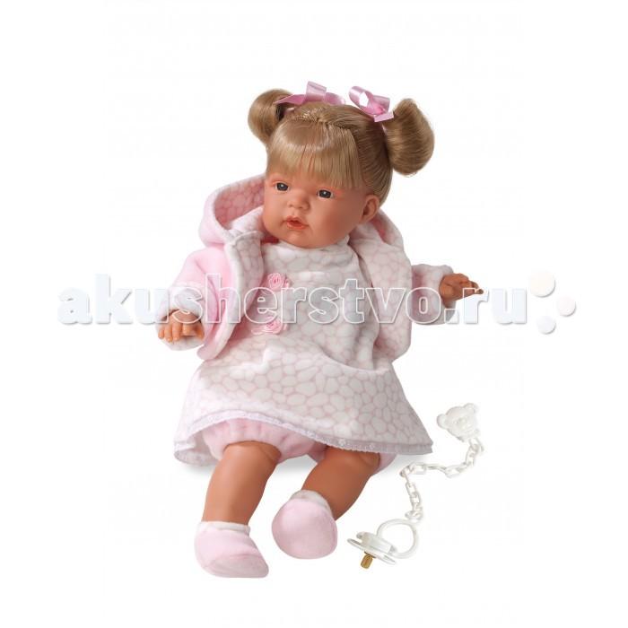 Llorens Кукла Люсия 38 смКукла Люсия 38 смLlorens Кукла Люсия 38 см - играть с малышкой будет не только интересно, но и увлекательно, ведь у кукол можно разглядеть не только мимику лица, но и реалистичные складочки на ручках и ножках, которые анатомически точно передают внешние особенности настоящих малышей.  Кукла одета в яркий и стильный наряд!  При изготовлении кукол Llorens используются только сертифицированные материалы, безопасные и не вызывающие аллергических реакций. Тело куклы является мягконабивным, ее ножки и ручки можно двигать, а голову поворачивать в разные стороны.<br>