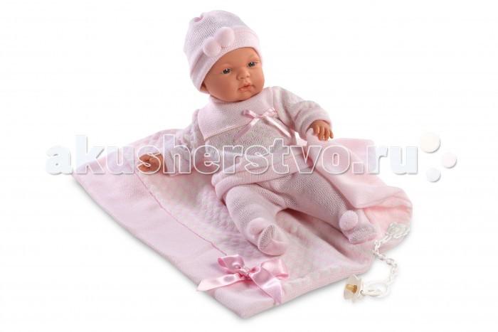 Llorens Кукла Жоэль 38 см с одеяломКукла Жоэль 38 см с одеяломLlorens Кукла Жоэль 38 см с одеялом - играть с малышкой будет не только интересно, но и увлекательно, ведь у кукол можно разглядеть не только мимику лица, но и реалистичные складочки на ручках и ножках, которые анатомически точно передают внешние особенности настоящих малышей.  Кукла одета в яркий и стильный наряд!  При изготовлении кукол Llorens используются только сертифицированные материалы, безопасные и не вызывающие аллергических реакций. Тело куклы является мягконабивным, ее ножки и ручки можно двигать, а голову поворачивать в разные стороны.<br>