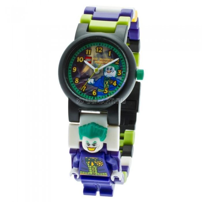 Конструктор Lego Наручные часы Super Heroes Joker с минфигуркойНаручные часы Super Heroes Joker с минфигуркойLego Наручные часы Super Heroes Joker с минфигуркой - это необычные часы которые тебе обязательно понравятся. Они выполнены в красивой цветовой гамме и украшены принтом с изображением любимого персонажа. С такими часами ты почувствуешь себя крутым героем, спасающим мир. Удобный разборный браслет, изготовленный из гипоаллергенных материалов, будет отлично сидеть на руке. А входящая в комплект фигурка поможет разнообразить сценарии, которые ты придумаешь для игры с любым из конструкторов серии Lego.   Часы символ пунктуального и уверенного в себе человека. Для юного сорванца такой подарок предел мечтаний, особенно если его украшает любимый герой.  Часы изготовлены из высококачественного пластика.<br>