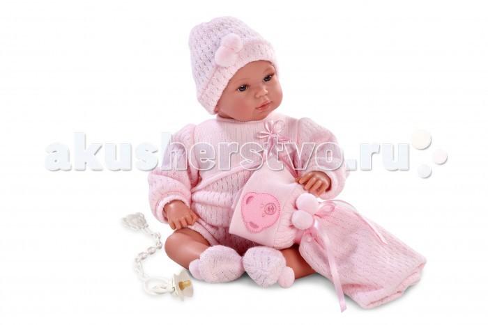 Llorens Кукла младенец 36 см L 63612Кукла младенец 36 см L 63612Llorens Кукла младенец 36 см L 63612. Кукла из ПВХ с мягконабивным туловищем с наполнителем из синтетического волокна. Кукла умеет плакать и говорить мама, папа. Одета в розовую кофточку, штанишки, шапочку, носочки. К кукле прилагается соска и одеяльце. Глазки у куклы не закрываются.   Упакована в подарочную упаковку.<br>