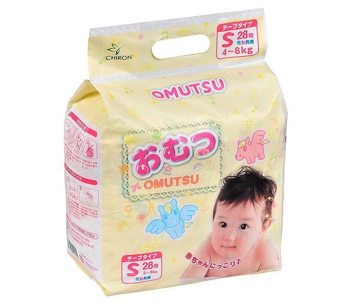 Подгузники Omutsu Подгузники детские S (4-8 кг) 28 шт. гун подгузники s 4 8 кг 84 шт 84шт