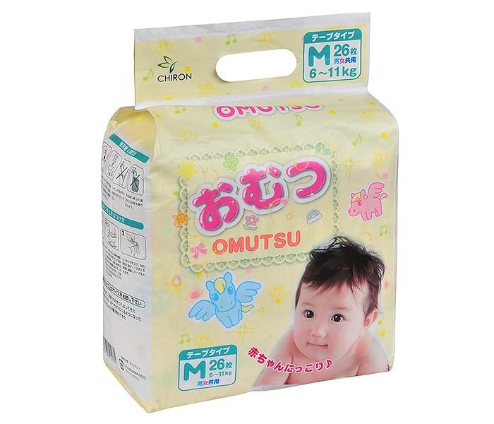 Подгузники Omutsu Подгузники детские M (6-11 кг) 26 шт.