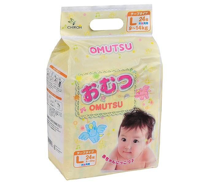 Подгузники Omutsu Подгузники детские L (9-14 кг) 24 шт. подгузники
