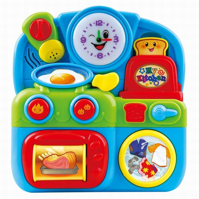Развивающая игрушка Playgo Маленькая кухняМаленькая кухняРазвивающая игрушка Playgo Маленькая кухня со световыми и звуковыми эффектами.   Изготовленная из качественного пластика, яркая игрушка поможет развить тактильные ощущения, звуковое восприятие, воображение и световое восприятие. Небольшой размер позволит брать веселую игрушку на прогулку или в поездку.  Питание: 2 батареи АА (входят в комплект).<br>