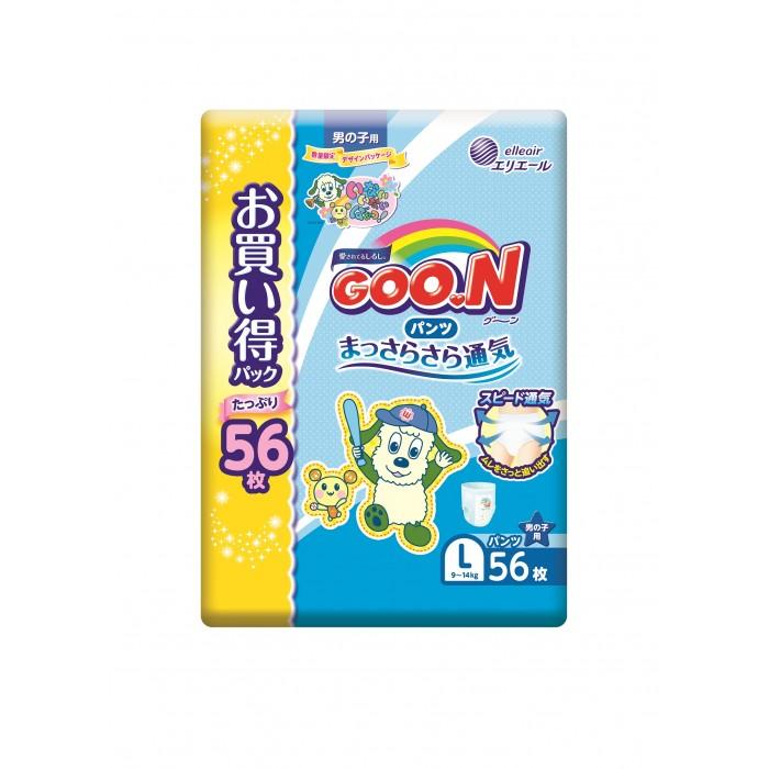 Гигиена и здоровье , Подгузники GooN Подгузники-трусики L (9-14 кг) для мальчика 56 шт. арт: 292129 -  Подгузники