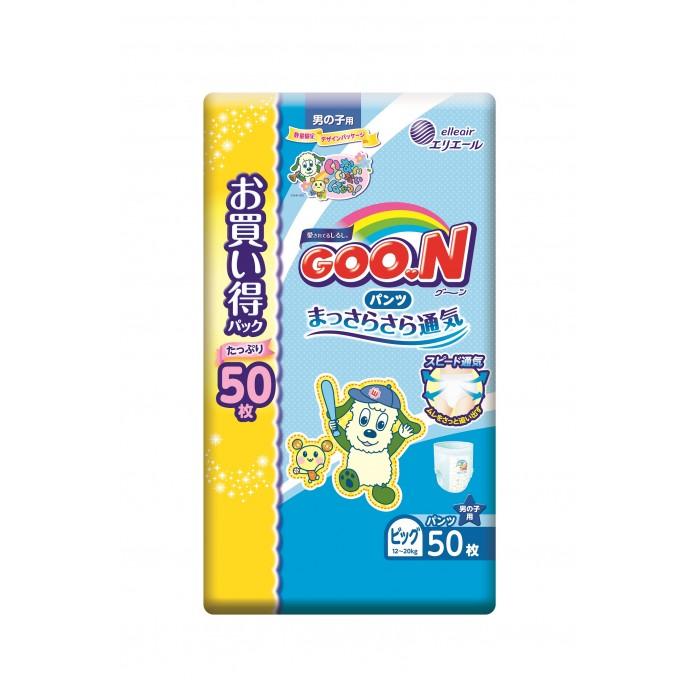 Подгузники-трусики GooN Подгузники-трусики XL (12-20 кг) для мальчика 50 шт., Подгузники-трусики - артикул:292135