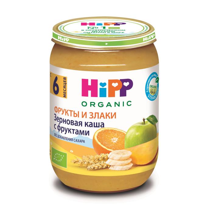 Пюре Hipp Безмолочная зерновая с фруктами с 6 мес., 190 г hipp спокойной ночи молочный рисовый десерт с бананом 6 мес 190 г
