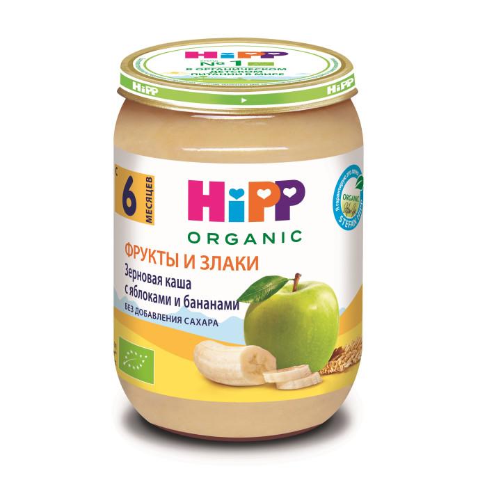 Пюре Hipp Безмолочная зерновая каша с яблоками и бананами с 8 мес., 190 г hipp органическая зерновая рисовая каша с 4 мес