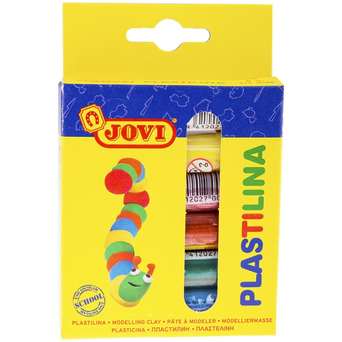 Всё для лепки Jovi Пластилин 6 цветов 90 г всё для лепки спейс пластилин artspace 8 цветов