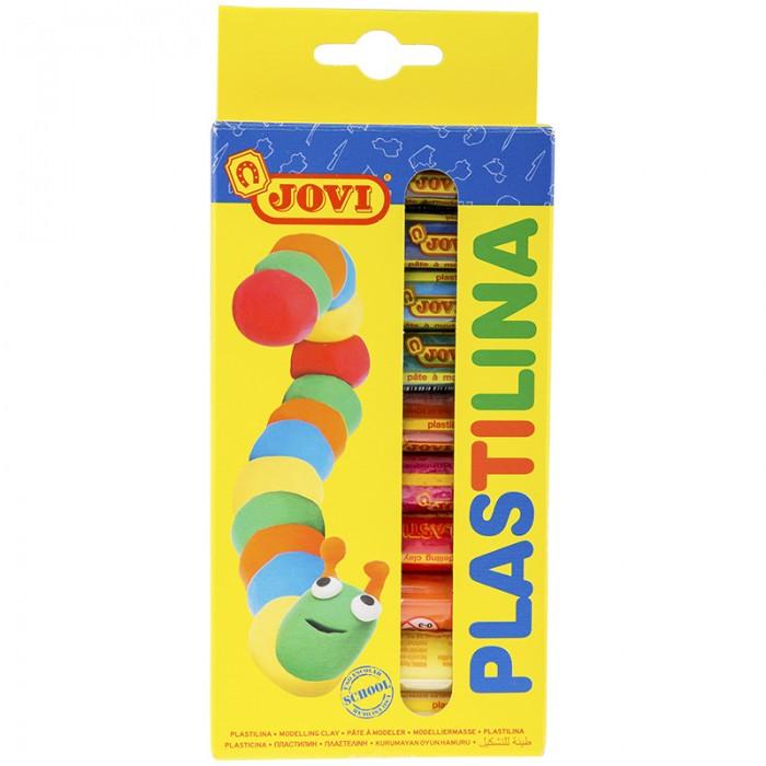 Всё для лепки Jovi Пластилин 10 цветов 150 г картон, европодвес всё для лепки lori пластилин классика 16 цветов